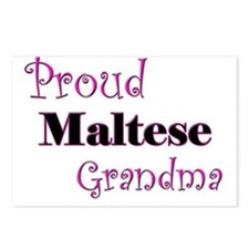 Proud Maltese Grandma Postcards (Package of 8)