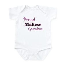 Proud Maltese Grandma Infant Bodysuit