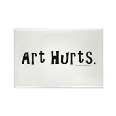 Art Hurts Rectangle Magnet (100 pack)