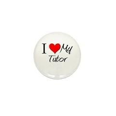I Heart My Tutor Mini Button (10 pack)