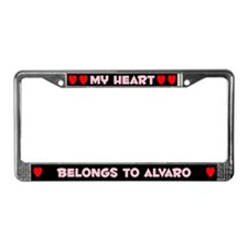 My Heart: Alvaro (#002) License Plate Frame