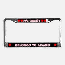 My Heart: Alvaro (#002) License Plate Frame