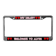 My Heart: Alvin (#002) License Plate Frame