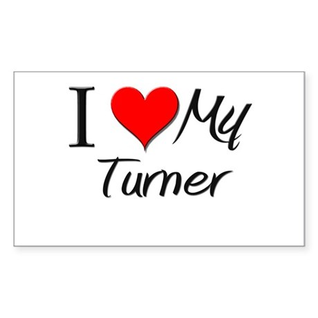 I Heart My Turner Rectangle Sticker
