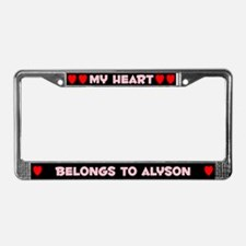 My Heart: Alyson (#002) License Plate Frame