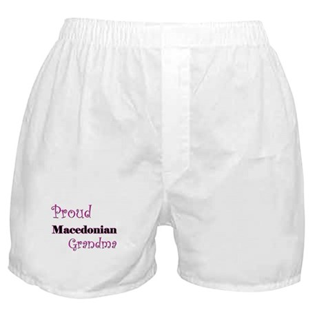 Proud Macedonian Grandma Boxer Shorts