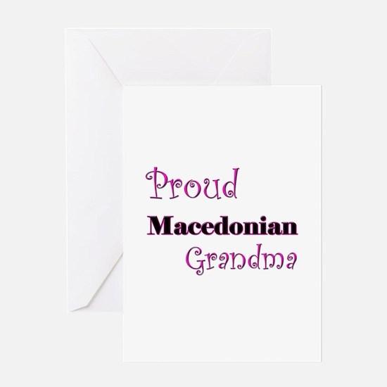 Proud Macedonian Grandma Greeting Card