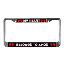 My Heart: Amos (#002) License Plate Frame
