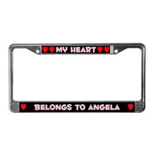 My Heart: Angela (#002) License Plate Frame