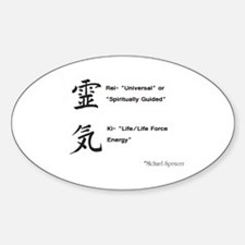 Reiki Kanji Oval Decal