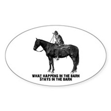 What happens in the barn Decal