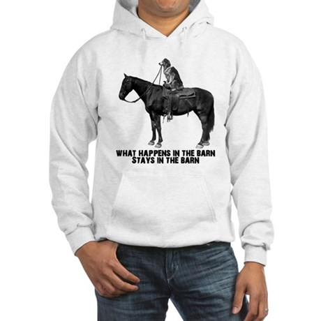 What happens in the barn Hooded Sweatshirt