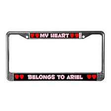 My Heart: Ariel (#002) License Plate Frame