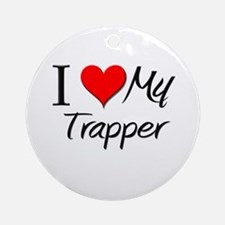 I Heart My Trapper Ornament (Round)
