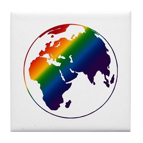 Gay World Design Tile Coaster