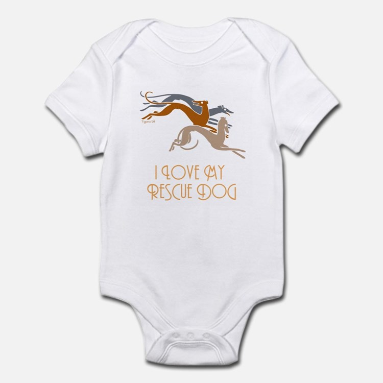 I Love My Rescue Dog Infant Bodysuit