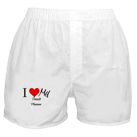 I Heart My Transit Planner Boxer Shorts