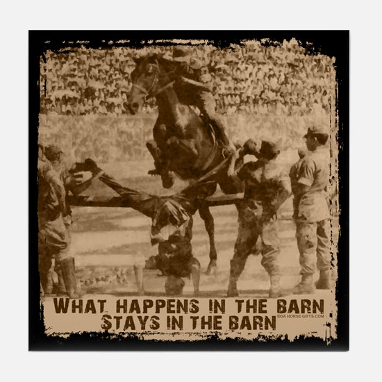 Jumper, stays in the barn. Tile Coaster