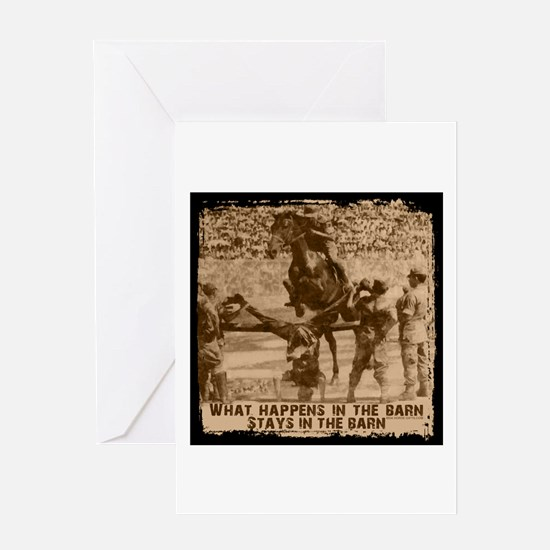 Jumper, stays in the barn. Greeting Card
