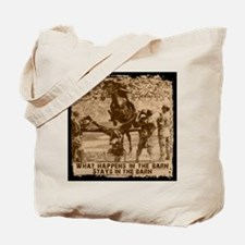 Jumper, stays in the barn. Tote Bag