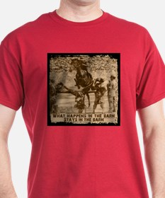 Jumper, stays in the barn. T-Shirt