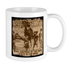Jumper, stays in the barn. Small Mugs
