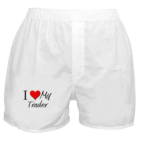 I Heart My Trader Boxer Shorts