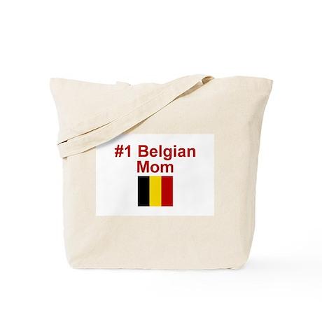 #1 Belgian Mom Tote Bag