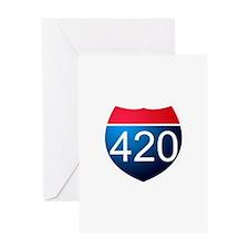 Unique 420 Greeting Card