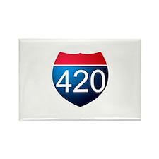 Unique 420 Rectangle Magnet