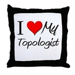 I Heart My Topologist Throw Pillow