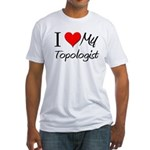 I Heart My Topologist Fitted T-Shirt