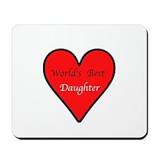 World's Best Daughter Mousepad