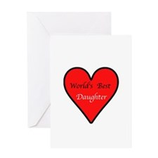 World's Best Daughter Greeting Card