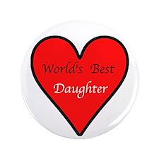 "World's Best Daughter 3.5"" Button (100 pack)"