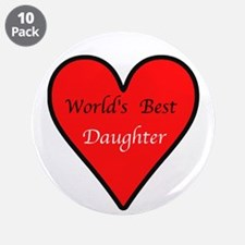 "World's Best Daughter 3.5"" Button (10 pack)"