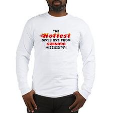 Hot Girls: Grenada, MS Long Sleeve T-Shirt