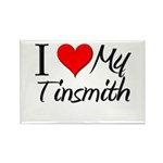 I Heart My Tinsmith Rectangle Magnet (10 pack)