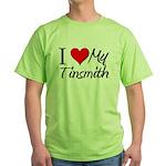 I Heart My Tinsmith Green T-Shirt