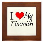 I Heart My Tinsmith Framed Tile