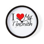 I Heart My Tinsmith Wall Clock