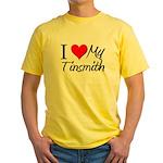 I Heart My Tinsmith Yellow T-Shirt