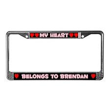 My Heart: Brendan (#002) License Plate Frame