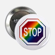 Rainbow Stop Sign Button
