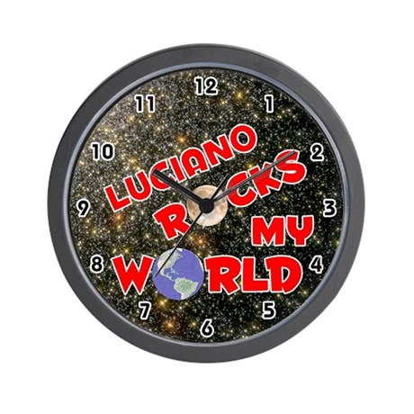 Luciano Rocks My World (Red) Wall Clock