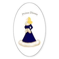 Blonde Prima Donna in Midnight Blue Robe Decal