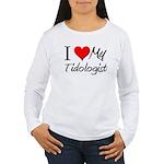 I Heart My Tidologist Women's Long Sleeve T-Shirt