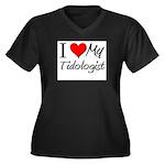 I Heart My Tidologist Women's Plus Size V-Neck Dar