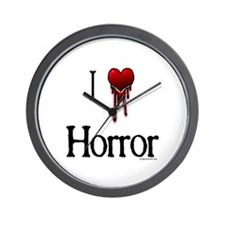 Bloody I heart horror gore Wall Clock