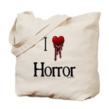 Bloody I heart horror gore Tote Bag